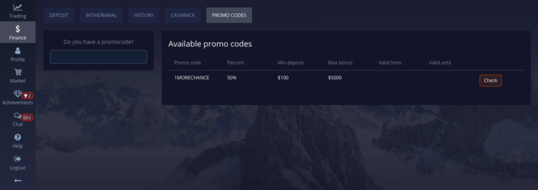 Pocket Option promo codes