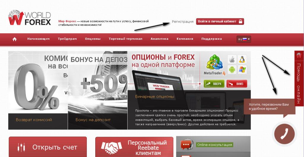 Регистрация на WordlForex